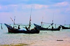 Musulmanes máximos en el pueblo pesquero de Samui Fotografía de archivo