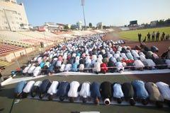 Musulmanes que celebran a Eid al-Fitr Imágenes de archivo libres de regalías