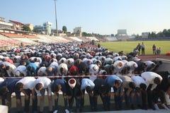 Musulmanes que celebran a Eid al-Fitr Fotos de archivo libres de regalías