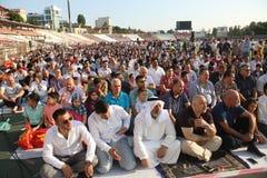 Musulmanes que celebran a Eid al-Fitr Foto de archivo libre de regalías