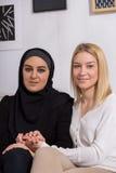 Musulmanes y caucásico Imagen de archivo