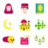 Musulmanes y el Ramadán del paquete del icono Imágenes de archivo libres de regalías