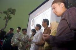 MUSULMANI MODERATI TOLLERANTI DELL'INDONESIA Fotografia Stock