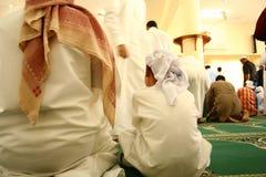 Musulmans à la mosquée Photographie stock libre de droits