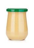 Musztardy szklana butelka Zdjęcia Stock
