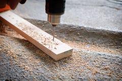 Musztrować przebija drewno Obraz Stock