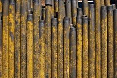 Musztrowa? ropa i gaz studnie ?wider drymby inspekcja Rurowa? dla ropa i gaz wymienionego na piedestale z studni po my? zdjęcia royalty free