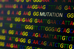 Mutação da sequência do ADN Imagem de Stock