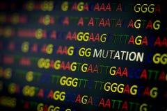Mutação da sequência do ADN Imagens de Stock Royalty Free