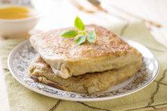 Mutabbaq or Murtabak is a stuffed Arabic bread Royalty Free Stock Photography