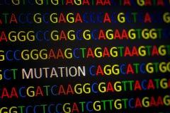 MUTACIÓN en secuencia de la DNA Imágenes de archivo libres de regalías