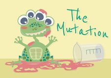 Mutacji żaba ilustracja wektor