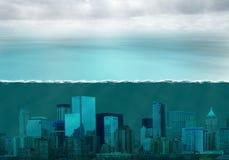 Mutamento climatico di riscaldamento globale, tempo fotografia stock