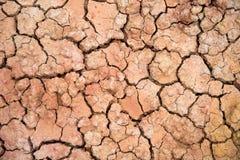 Mutamento climatico, riscaldamento globale, suolo incrinato del primo piano Immagine Stock Libera da Diritti