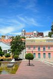 Mutamid Park and Cathedral, Silves, Portugal. Royalty Free Stock Photos