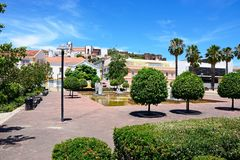 Mutamid park, Silves, Portugalia Obraz Royalty Free