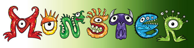 Mutant cartoon character monsters  illustrations Stock Photo