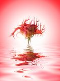 Mutant flower. Picture of a Mutant flower in rendered water stock illustration