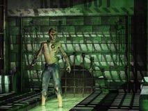 Mutant getatoeeerde rioolbewoner vector illustratie