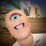 Mutant in polluted landscape. Stock Photos