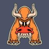 Mutant stylisé de monstre de la lettre A Photo stock