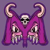 Mutant stylisé de monstre de la lettre M Images libres de droits