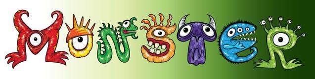 Mutantzeichentrickfilm-figur-Monsterillustrationen Stockfoto