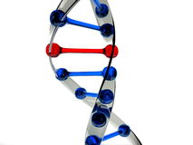 Mutation or error in dna sample Royalty Free Stock Photos