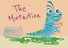 Mutationhusödlan stock illustrationer