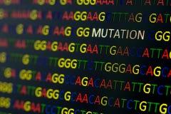 Mutazione di sequenza del DNA Immagine Stock