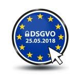 Mutazione tedesca di regolamento generale di protezione dei dati: Datenschutz Grundverordnung DSGVO royalty illustrazione gratis
