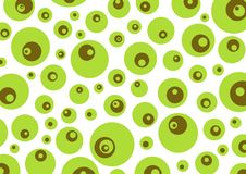 Mute. Green brown retro circles background Stock Photo