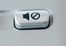 Mute Button Stock Image