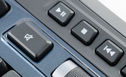 Mute button on the computer keyboard Royalty Free Stock Photos