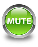 Mute glossy green round button Stock Photos