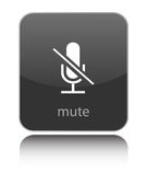 Mute icon on white Stock Images