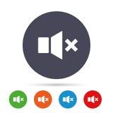 Mute speaker sign icon. Sound symbol. vector illustration