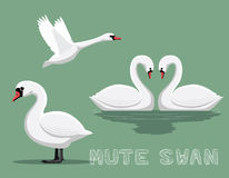 Mute Swan Cartoon Vector Illustration Stock Photography