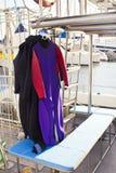 Mute umide che appendono fuori per asciugarsi Fotografie Stock Libere da Diritti