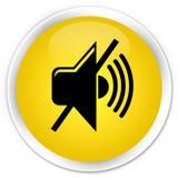 Mute volume icon premium yellow round button Stock Photography