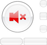 Mute White Button. Royalty Free Stock Photography