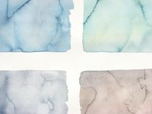 Muted Abstract watercolor background cross Royalty Free Stock Image