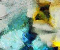 Muted Abstract Painting. Muted Colors Abstract Painting. 3D rendering royalty free illustration