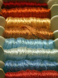 Muted Hues. Embroidery thread in muted hues stock photography