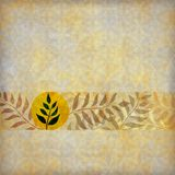 Muted leaves on natural brown background Royalty Free Stock Photos