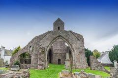 Muthill Jacobite历史苏格兰老教会&塔废墟  库存图片