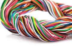 Muti-color electronic wire Stock Photo