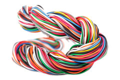Muti-color electronic wire Royalty Free Stock Photography