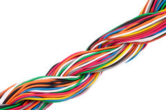 Muti-color electronic wire Royalty Free Stock Images