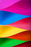 Muti-colored papers folded Royalty Free Stock Images
